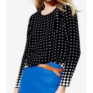 J. Crew Optic Dot Blouse size 12